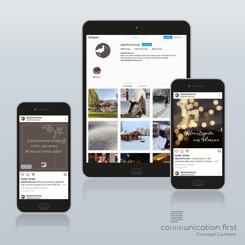 Alpenhof Murnau Social Media Redaktion