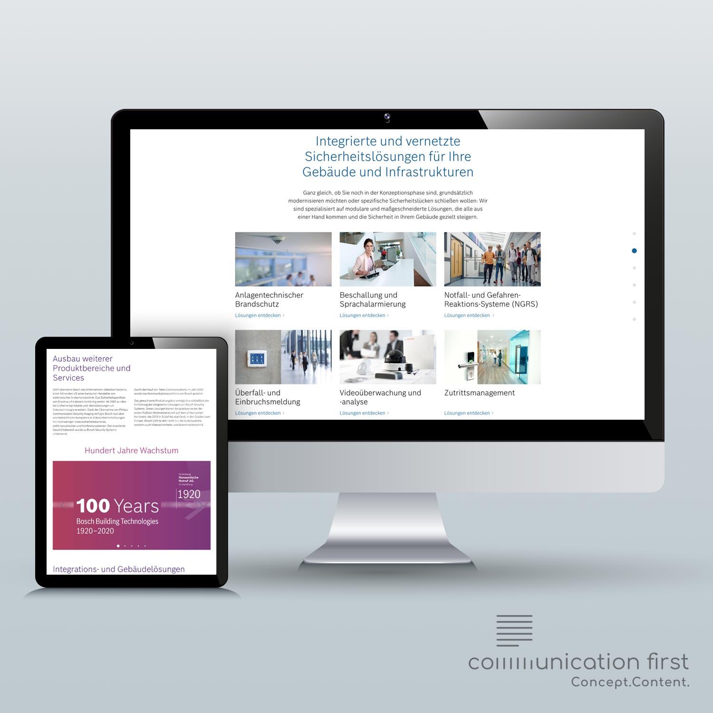 Bosch Building Solutions Markenkommunikation